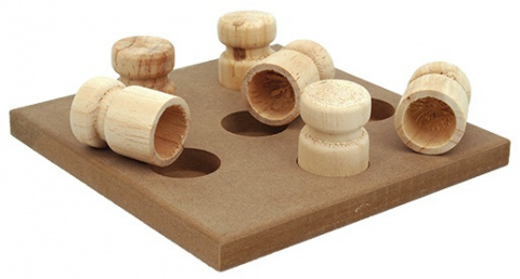 Rotaļlieta suņiem - Dog Fantasy Interactive Wooden toy, 18 x 18 x 5 cm title=