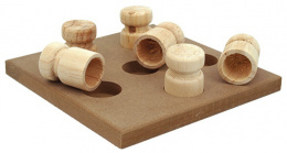 Rotaļlieta suņiem - Dog Fantasy Interactive Wooden toy, 18 x 18 x 5 cm