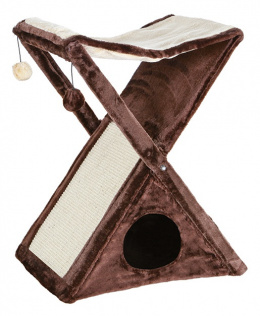 """Домик для кошек - """"Miguel"""", Scratching post,50*62*39 cm, коричневый/бежевый"""