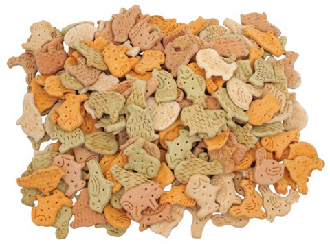 Лакомство для собак – Rasco Biscuit animal mix 5,5 см, 1 кг