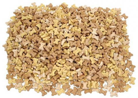 Лакомство для собак – Rasco Biscuit mikro bone mix, 2,5 см, 1 кг