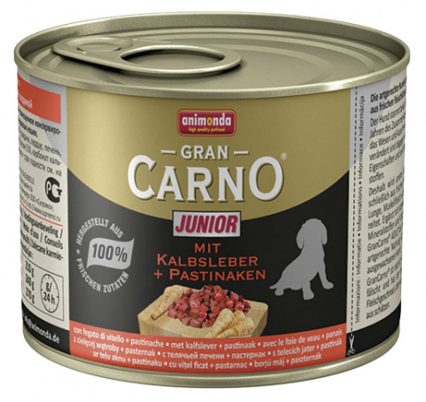 Konservi kucēniem - GranCarno Mini Junior with calf liver & pastinaca 200g