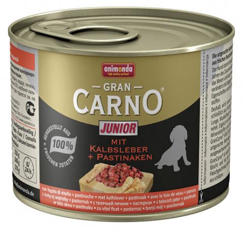 Консервы для щенков - GranCarno Mini Junior with calf liver & pastinaca 200g