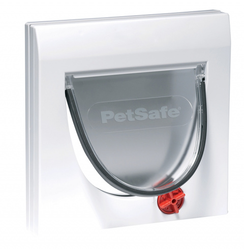 Дверца для животных - Staywell, PetSafe, Cat Flap with tunnel 917, white, 22,4 см x 22,4 см  title=