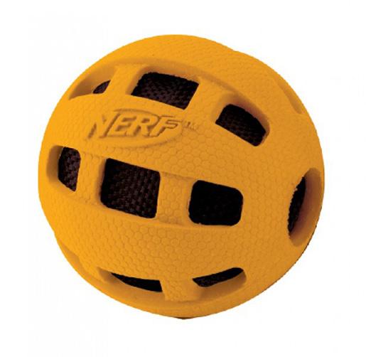 Игрушка для собак - NERF Crunchable Checker мяч, 10 cm