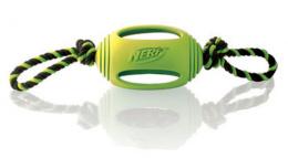 Игрушка для собак - NERF Rubber Tough Tug zaļa 45 cm