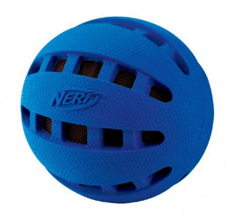 Rotaļlieta suņiem - NERF Crunchable Checker Ball, 6 cm title=
