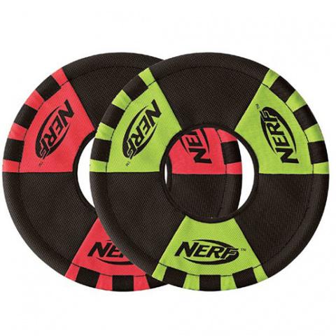 Игрушка для собак - NERF Trackshot Toss and Tug Ring, 22 cm title=
