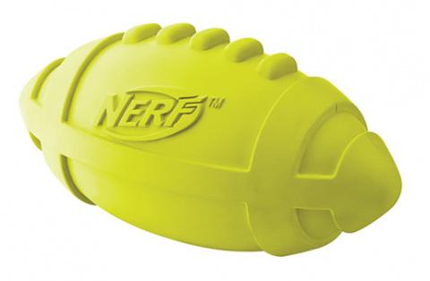 Rotaļlieta suņiem - NERF Rubber Squeak Football, 17 cm title=