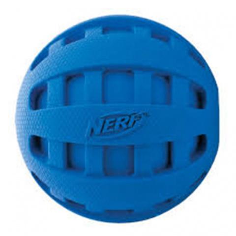 Rotaļlieta suņiem - NERF Spiral Squeak Football, 12 cm title=