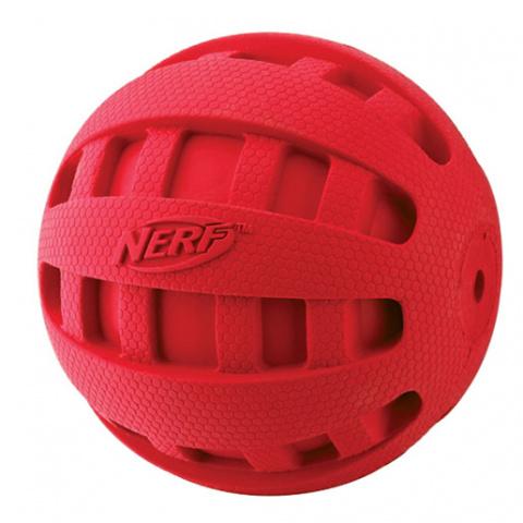 Игрушка для собак - NERF Squeak Checker мяч, 10 cm title=