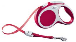 Поводок-рулетка для собак - Flexi Vario Tape S 5m, красный