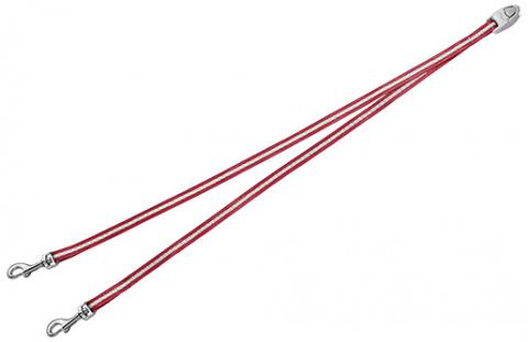 Aksesuārs inerces pavadām suņiem - FLEXI Vario Duo Belt, krāsa - sarkana