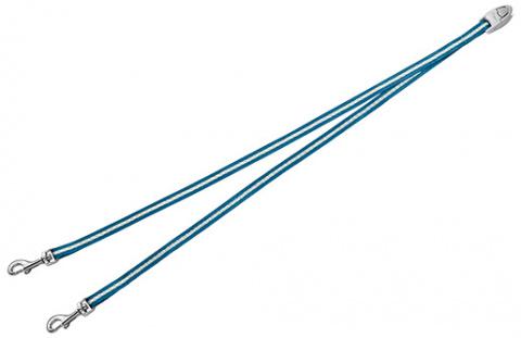 Aksesuārs inerces pavadām suņiem - FLEXI Vario Duo Belt, krāsa - zila title=