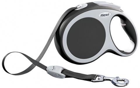 Поводок-рулетка для собак - FLEXI Vario Tape L 8м, цвет - антрацит title=