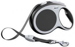 Поводок-рулетка для собак - FLEXI Vario Tape L 8м, цвет - антрацит