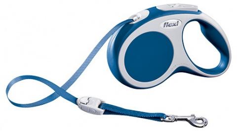 Поводок-рулетка для собак - Flexi Vario Tape S 5m, синий title=