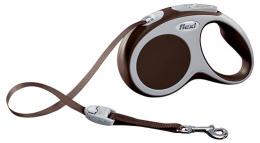 Поводок-рулетка для собак - Flexi Vario Tape S 5m, коричневый