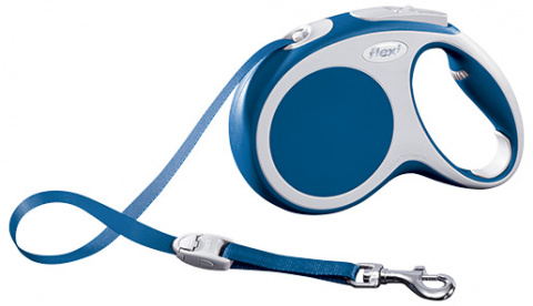 Поводок-рулетка для собак - FLEXI Vario Tape M 5м, цвет - синий