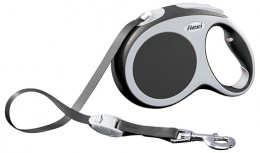 Поводок-рулетка для собак - FLEXI Vario Tape L 5м, цвет - антрацит