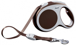 Поводок-рулетка для собак - FLEXI Vario Tape L 5м, цвет - коричневый