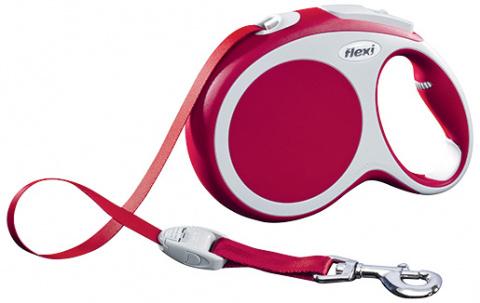 Поводок-рулетка для собак - FLEXI Vario Tape L 8м, цвет - красный title=