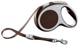 Поводок-рулетка для собак - FLEXI Vario Tape M 5м, цвет - коричневый