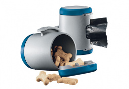Aksesuārs inerces pavadām suņiem - Flexi Vario Multi box, zila