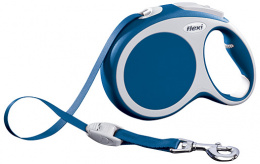 Поводок-рулетка для собак - FLEXI Vario Tape L 8м, цвет - синий