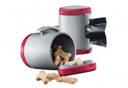 Aksesuārs inerces pavadām suņiem - Flexi Vario Multi box, sarkana