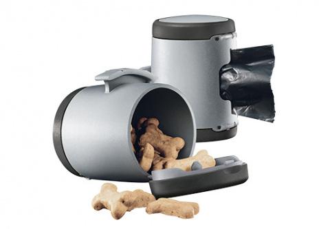 Aksesuārs inerces pavadām suņiem - Flexi Vario Multi box, antracīts