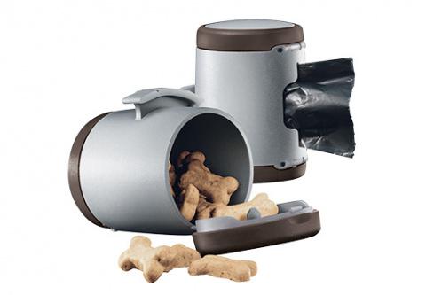 Аксессуар поводка-рулетки для собак - Flexi Vario Multi box, коричневый title=