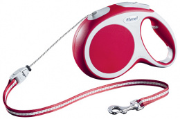 Inerces pavada suņiem - FLEXI Vario Cord M 8m, krāsa - sarkana