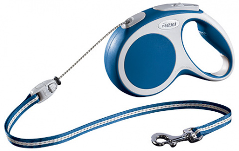 Поводок-рулетка для собак - FLEXI Vario Cord M 5м, цвет - синий