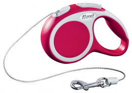 Inerces pavada suņiem - FLEXI Vario Cord XS 3m, krāsa - sarkana