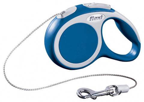 Inerces pavada suņiem - FLEXI Vario Cord XS 3m, krāsa - zila