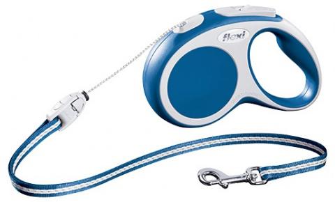 Поводок-рулетка для собак - FLEXI Vario Cord S 5м, цвет - синий