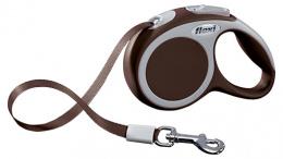 Поводок-рулетка для собак - Flexi Vario Tape XS 3m, коричневый
