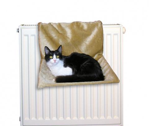 Спальное место для кошек - Спальное место на радиатор, бежевый title=