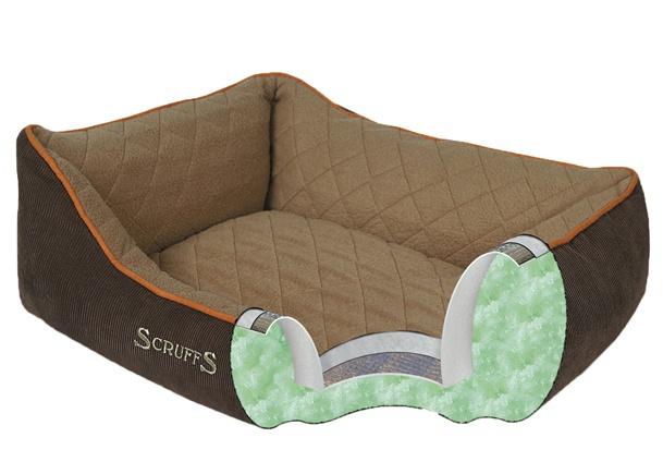 Guļvieta suņiem - Scruffs Thermal Box Bed (XL), 90 x 70 cm, brūna