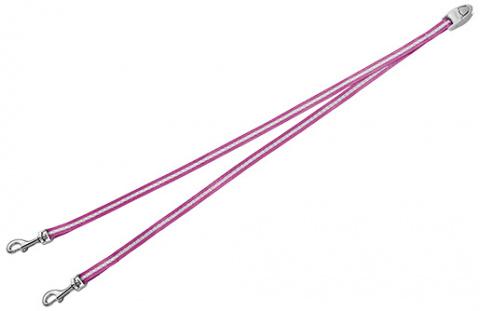 Аксессуар поводка-рулетки для собак - FLEXI Vario Duo Belt, цвет - розовый title=