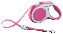 Поводок-рулетка для собак - Flexi Vario Tape S 5m, розовый