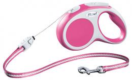 Поводок-рулетка для собак - FLEXI Vario Cord S 5м, цвет - розовый