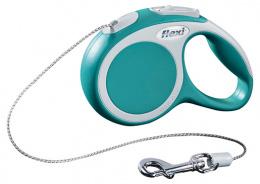 Поводок-рулетка для собак - FLEXI Vario Cord XS 3м, цвет - бирюзовый