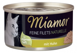 Konservi kaķiem - Miamor Filet Naturelle Chicken, 80g
