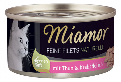 Консервы для кошек - Miamor Filet Naturelle Tuna and Crab, 80 г title=