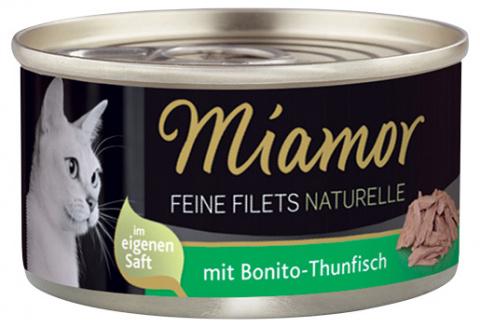 Konservi kaķiem - Miamor Filet Naturelle Bonito-Tuna, 80 g title=