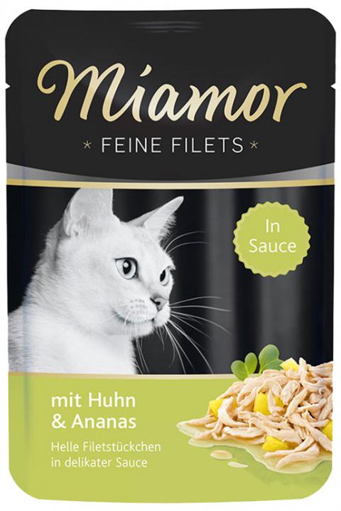 Консервы для кошек - Miamor Feine Filet Chicken&Pineapple in Sauce 100g
