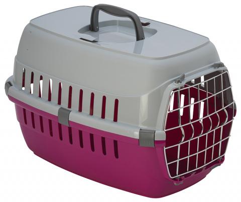 Transportēšanas bokss dzīvniekiem - DF Carrier, 51*31(h)*34cm, sarkana title=
