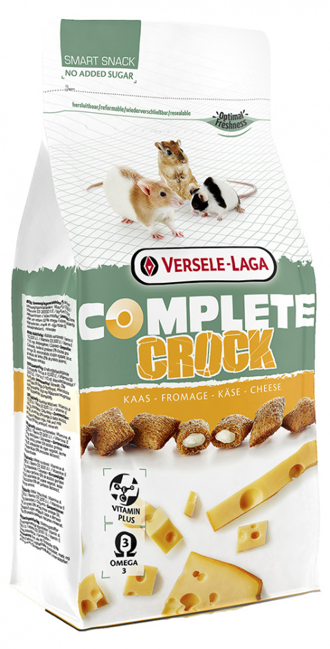 Gardums grauzējiem – Versele-Laga Crock Complete Cheese, 50 g title=